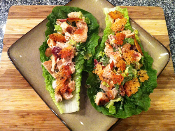 ... avocado dressing chicken and avocado lettuce boats with buttermilk